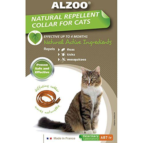 Alzoo Flea and Tick  Alzoo Diffusing Collar Cat  Cat Collar