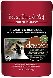 Dave's Naturally Healthy  Dave's Naturally Healthy Pouches Saucey Tuna & Beef  SauceyTna/Be  2.8oz