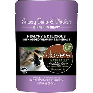 Dave's Naturally Healthy  Dave's Naturally Healthy Pouches Saucey Tuna & Chicken  SauceyTna/Ch  2.8oz