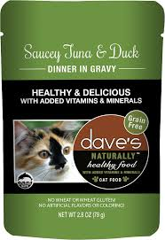 Dave's Naturally Healthy  Dave's Naturally Healthy Pouches Saucey Tuna & Duck  SauceyTna/Du  2.8oz