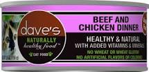 Dave's Pet Food Cat  Dave's Ntrl Hlthy GF Beef & Chicken Dinner  BeefChicken  5.5oz