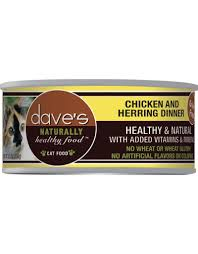 Dave's Pet Food Cat  Dave's Ntrl Hlthy GF Chicken & Herring Dinner  ChickenHerr  5.5oz