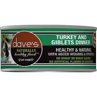 Dave's Pet Food Cat  Dave's Ntrl Hlthy GF Turkey & Giblets Dinner  TurkeyGbl  5.5oz