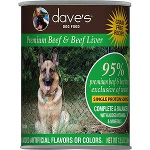 Dave's Pet Food Dog  Dave's 95% Premium Beef  95%Beef  13oz