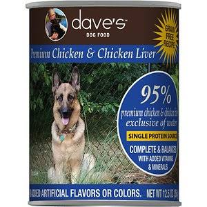Dave's Pet Food Dog  Dave's 95% Premium Chicken  95%Chicken  13oz