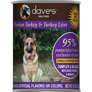 Dave's Pet Food Dog  Dave's 95% Premium Turkey  95%Turkey  13oz