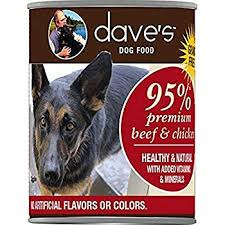 Dave's Pet Food Dog  Dave's Premium 95% Beef/Chicken  95%BeefChick  13oz