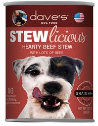 Dave's Pet Food Dog  Dave's Stewlcious  HeartyBeef  13oz