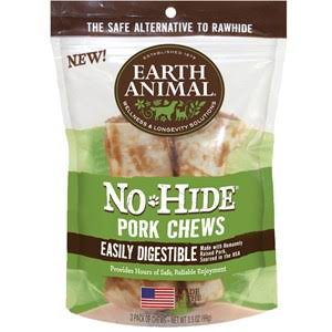 Earth Animal  Earth Animal No Hide  2 PK Pork  4""