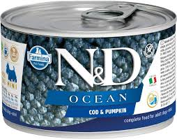 Farmina Dog Canned Food  Farmina Dog Canned Food Ocean Codfish & Pumpkin  Codfish/Pmkn  10.5oz