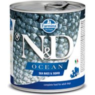Farmina Dog Canned Food  Farmina Dog Canned Food Ocean Sea Bass & Squid  SeaBass/Sqd  10.5oz