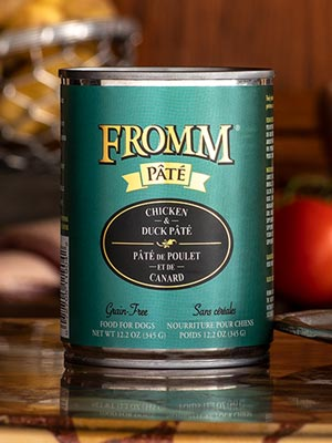Fromm Family Pet Products  Fromm Dog Canned Chicken & Duck Pate  ChicDuckPate  12oz