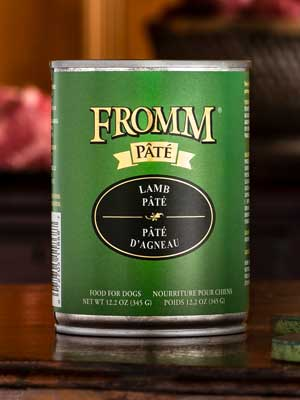 Fromm Family Pet Products  Fromm Dog Canned Lamb Pate  LambPate  12oz