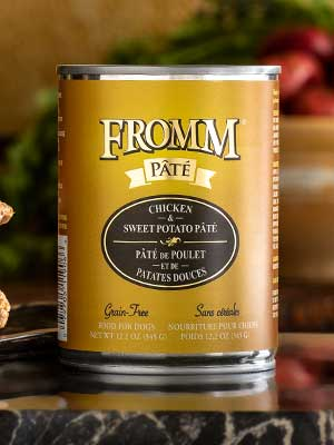 Fromm Family Pet Products  Fromm Dog canned Chicken & Sweet Potato Pate  Chikn/SPPate  12oz