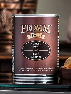 Fromm Family Pet Products  Fromm Dog canned  Turkey Pate  12.oz