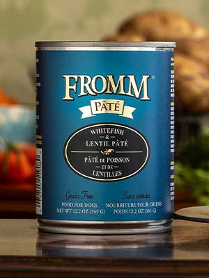 Fromm Family Pet Products  Fromm Dog canned Whitefish & Lentil Pate  Wfish/Lentil  12oz