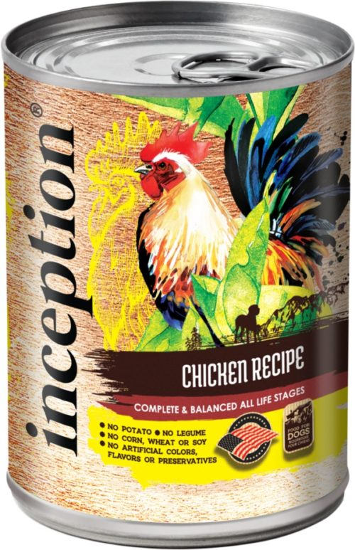 Inception Canned Dog Food Chicken Recipe 13oz