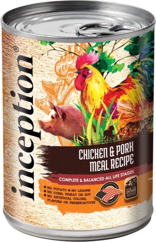 Inception Canned Dog Food Chicken and Pork Recipe 13oz
