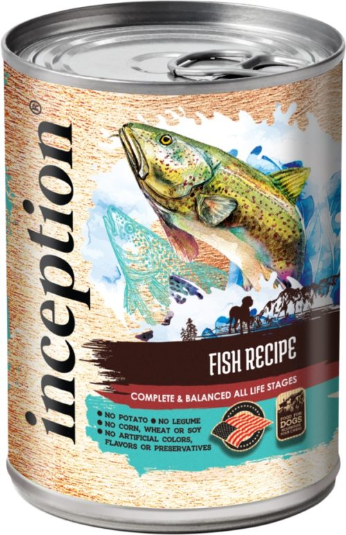 Inception Canned Dog Food Fish Recipe 13oz