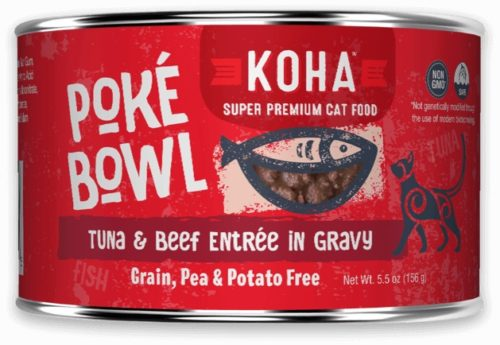 Koha Cat Can Poke Bowl Tuna/Beef 5.5 oz
