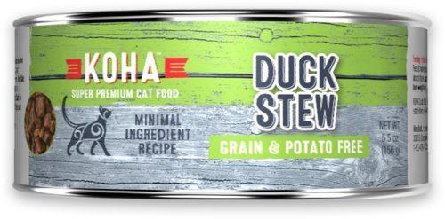 Koha Cat Canned  Koha Cat Canned Grain Free Duck Stew  Duck Stew  5.5 oz