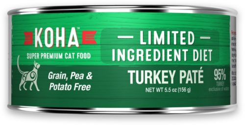 Koha Cat Canned  Koha Cat Canned Grain Free Turkey  GFTurkey  5.5 oz