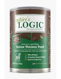 Nature's Logic Dog Canned  Nature's Logic Dog Canned Venison  Venison  13.2oz