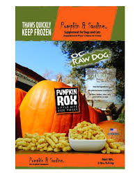 OC Raw Pumpkin and Sardine Rox 2#