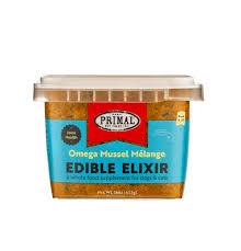 Primal Frozen Edible Elixir Omega Mussel Melange 16oz