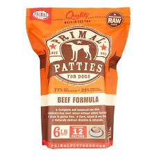 Primal Pet Food Dog Beef  6#