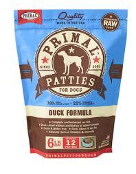 Primal Pet Food Dog Patty  Pork  6#