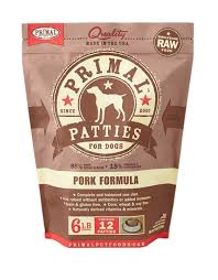 Primal Pet Food Dog Patty Duck  6#