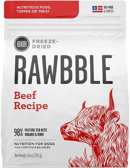 Rawbble Freeze Dried Dog Kibble  Rawbble dog FD  Beef  5.5 oz