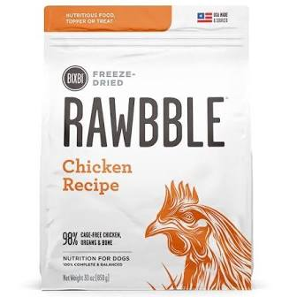 Rawbble Freeze Dried Dog Kibble  Rawbble dog FD  CKN  5.5 oz