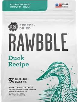 Rawbble Freeze Dried Dog Kibble  Rawbble dog FD  DUCK  4.5 oz