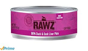 Rawz Cat Canned  Rawz Cat Canned Food  Duck/Liver  5.5 oz