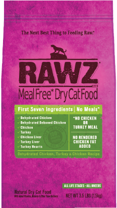 Rawz Cat Food  Rawz Cat Food Chicken/Turkey  Chick/Turk  1.75#