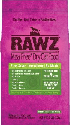 Rawz Cat Food  Rawz Cat Food Chicken/Turkey  Chick/Turk  1.75#