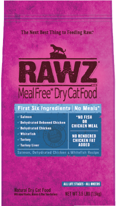 Rawz Cat Food  Rawz Cat Food Salmon/Chicken/Whitefish  Sal/Chick/Wh  3.5#