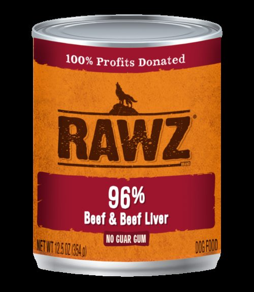 Rawz Dog Canned  Rawz Dog Canned Food  Beef/Liver  12.5 oz