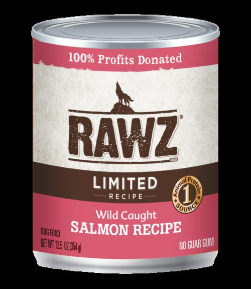 Rawz Dog Canned  Rawz Dog Canned Food LID Salmon  LID Salmon  12.5 oz