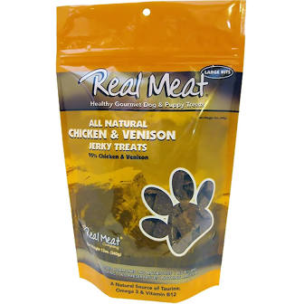 Real Meat Dog Treat  Chicken/Venison Dog Treats  ChicVe   4 oz