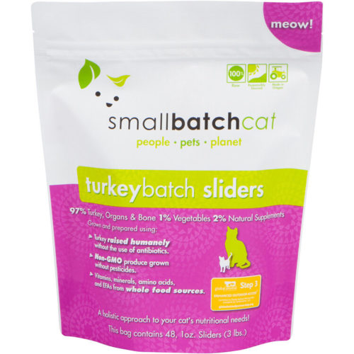Small Batch  Small Batch Frozen Cat Food Turkey  Turkey  3#