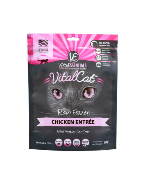 Vital Essentials  Vital Essentials Cat Mini Patties  Chicken  1.75#