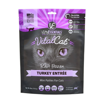 Vital Essentials  Vital Essentials Cat Mini Patties  Turkey  1.75#